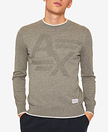 A|X Armani Exchange Men's Tonal Logo Sweater