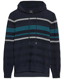 A|X Armani Exchange Men's Striped Hoodie
