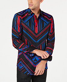 I.N.C. Mens Pattern Control Shirt, Created for Macy's