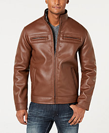 I.N.C. Men's Full-Zip Faux-Leather Jacket, Created for Macy's