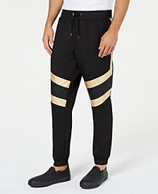 I.N.C. Men's Gold Trim Jogger Pants, Created for Macy's