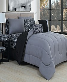 Animal 9 Pc King Reversible Bed In A Bag