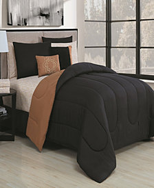 Solid 9 Pc King Reversible Bed In A bag