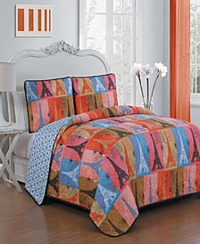 Cannes 3 Pc Queen Quilt Set