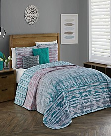 Tia 5 Pc Queen Quilt Set