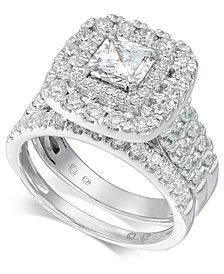 Diamond Princess Halo Bridal Set (1-1/2 ct. t.w.) in 14k White Gold