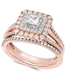 Diamond Princess Two-Tone Bridal Set (1 ct. t.w.) in 14k Rose & White Gold