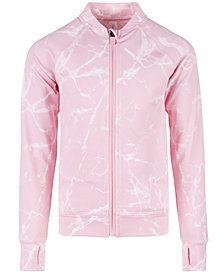 Ideology Toddler Girls Marble-Print Active Jacket, Created for Macy's