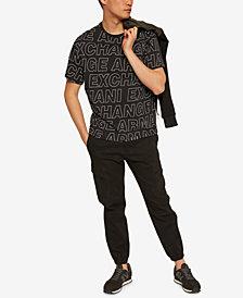 A|X Armani Exchange Men's Allover Logo Print T-Shirt