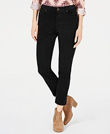 Petite Tummy Control Corduroy Pants, Created for Macy's