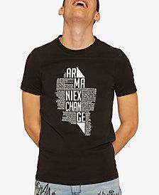 A X Armani Exchange Men's Newsprint Logo Graphic T-Shirt