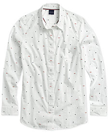 Tommy Hilfiger Adaptive Women's Frankie Monogram Shirt with Magnetic Buttons