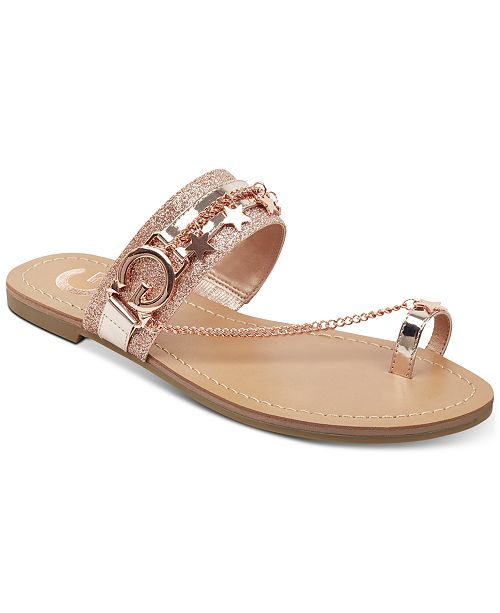 65e9cc1e50e5 G by GUESS Londyn Flat Sandals   Reviews - Sandals   Flip Flops ...