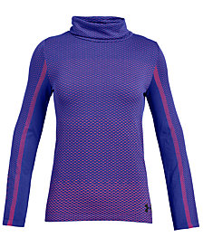 Under Armour Big Girls Seamless Funnel-Neck T-Shirt