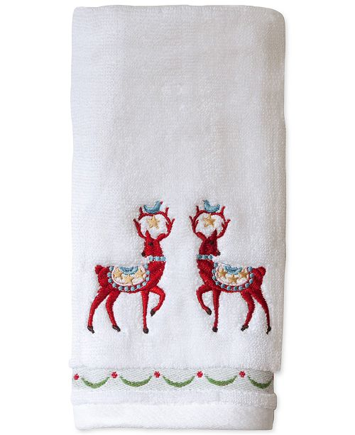 Bardwil CLOSEOUT! Dena Folkloric Cotton Embroidered Hand Towel