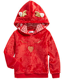 Epic Threads Little Girls Faux Fur Reindeer Hoodie, Created for Macy's