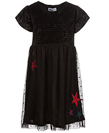 Epic Threads Little Girls Velvet Star Dress, Created for Macy's