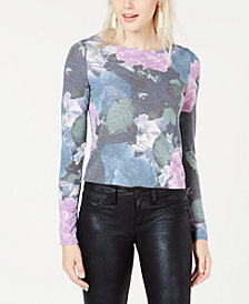Bar III Floral-Print Top, Created for Macy's