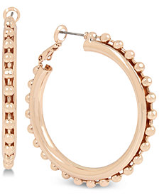 BCBG Ball Chain Hoop Earrings