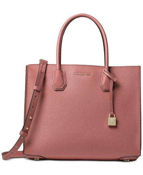 Michael Kors Mercer Accordion Pebble Leather Tote - Handbags ... f4b74f687482b