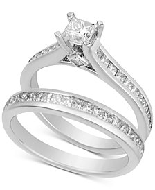 Diamond Princess Bridal Set (1-1/2 ct. t.w.) in 14k White Gold