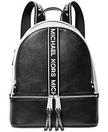 MICHAEL Michael Kors Rhea Zip Logo Pebble Leather Backpack