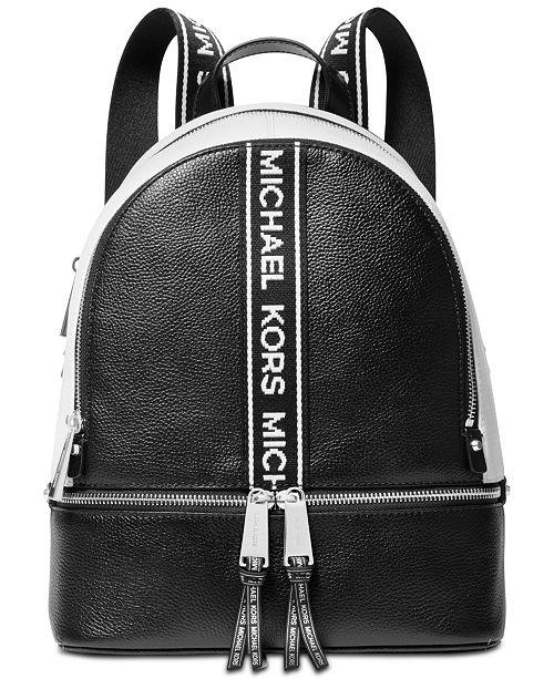 5e2373a5f81e Michael Kors Rhea Zip Logo Pebble Leather Backpack   Reviews ...