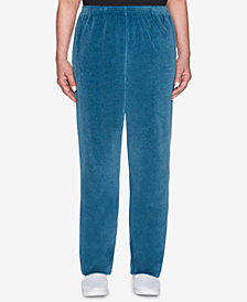 Alfred Dunner Comfortable Situation Velour Pull-On Pants