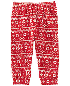 first impressions baby boys baby girls fair isle print leggings created for macys