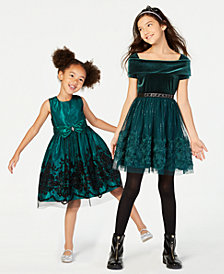Beautees & Jayne Copeland Toddler, Little & Big Girls Sister Holiday Dresses