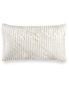 "Hotel Collection Alabastar Embroidered 14"" x 24"" Decorative Pillow, Created for Macy's"