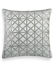 """Lithos Beaded 20"""" Square Decorative Pillow, Created for Macy's"""