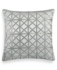 "Hotel Collection Lithos Beaded 20"" Square Decorative Pillow, Created for Macy's"