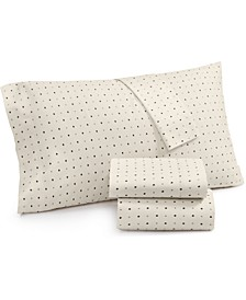 Cotton Sateen 230-Thread Count 4-Pc. Ikat Dot Queen Sheet Set, Created for Macy's