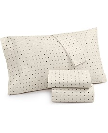 Lucky Brand Cotton Sateen 230-Thread Count 4-Pc. Ikat Dot Queen Sheet Set, Created for Macy's