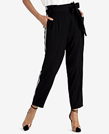 RACHEL Rachel Roy Varsity-Stripe Pants, Created for Macy's