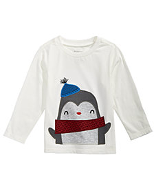 First Impressions Baby Boys Long-Sleeve Penguin T-Shirt, Created for Macy's