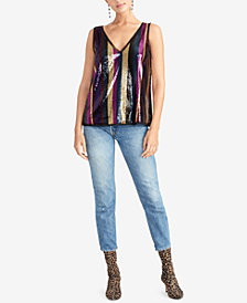 RACHEL Rachel Roy Veda Sequined Stripe Cami Top
