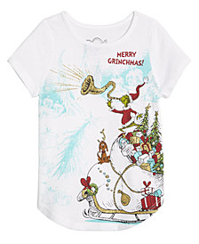 Dr. Seuss Toddler Girls Grinch Holiday T-Shirt