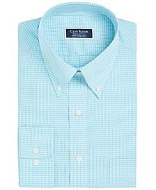Men's Classic/Regular Fit Performance Mini Gingham Dress Shirt, Created for Macy's