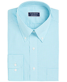 Club Room Men's Big & Tall Classic/Regular Fit Mini Gingham Dress Shirt, Created for Macy's
