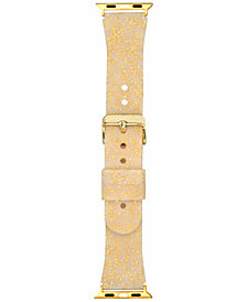 I.N.C. Women's Gold-Tone Glitter Silicone Apple Watch® Strap, Created for Macy's