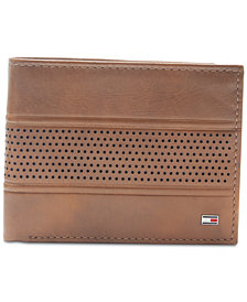 Tommy Hilfiger Men's Byron Leather Passcase Wallet