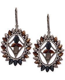 lonna & lilly Hematite-Tone Pavé & Bead Orbital Drop Earrings