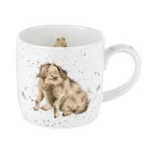"Royal Worcester Wrendale 11 oz. Pig Mug ""Truffles"" - Set of 6"