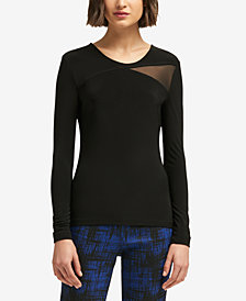 DKNY Mesh-Panel Top, Created for Macy's