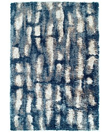 "Jackson Shag Connect Indigo 7'10"" x 10'7"" Area Rug"