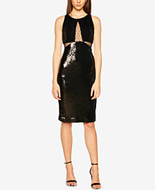 Bardot Sequin & Mesh Sleeveless Bodycon Dress