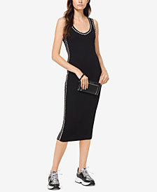 MICHAEL Michael Kors Embellished Ribbed Dress