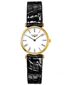 Women's Swiss La Grande Classique Black Alligator Leather Strap Watch 24mm L42092112